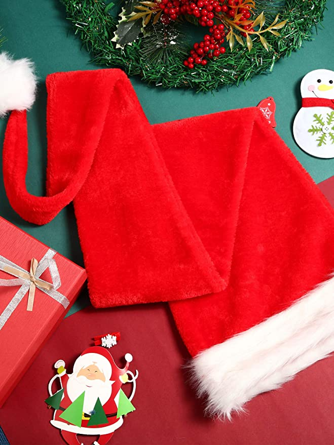 5 Feet Christmas Hats Holiday Party Decoration 150cm Red Hats /… iMucci Adult Women Long Santa Claus Hat