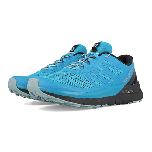 322f372610ee Salomon Sense Pro Max Trail Running Shoes Fjord Blue Black Lead Mens Sz 10.5