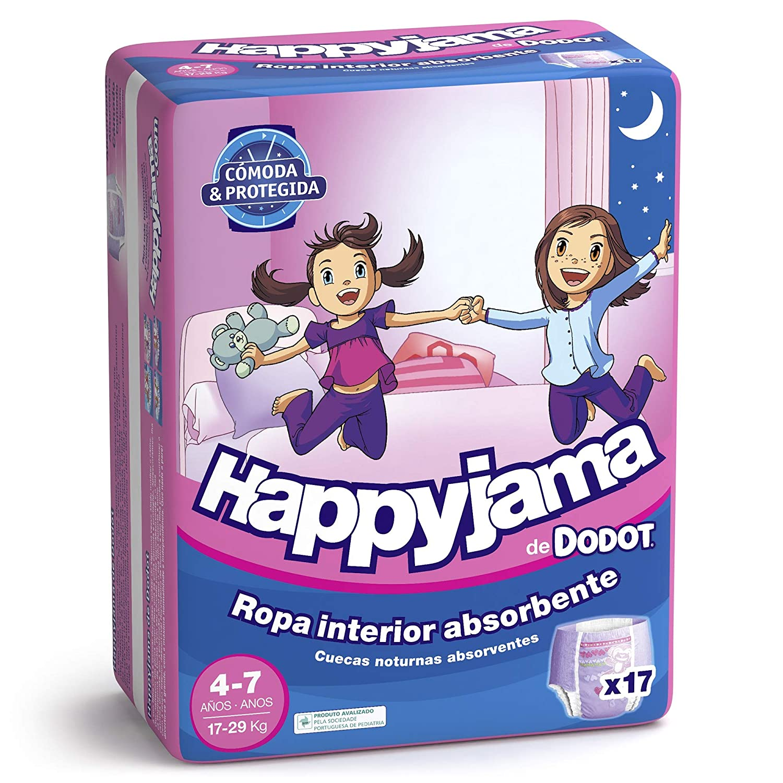 Dodot Happyjama - Pañales para niñas de 4-7 años, 17 unidades: Amazon.es: Amazon Pantry