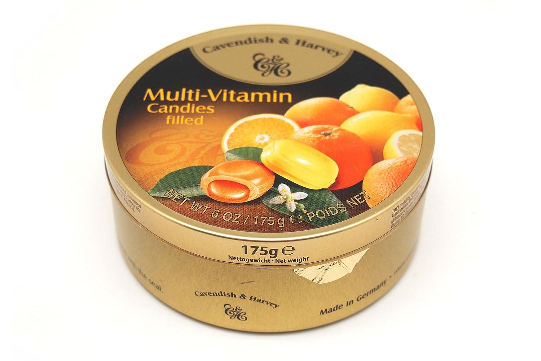 Cavendish Caramelos Multivitamínicos Rellenos con Sabor a Limón y Naranja - 1 Paquete de 9 x 19.44 gr - Total: 175 gr: Amazon.es: Alimentación y bebidas