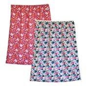 2-Pack Reusable Large Pail Liner Bag for Cloth Diapers or Laundry (Sea & Fish)
