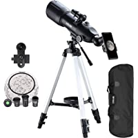 ESSLNB Telescopes for Adults Kids Astronomy Beginners 80mm Astronomical Telescopes with 10X Phone Mount Refractor…