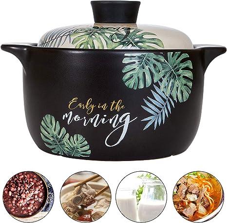 clay pot cooking for health AHUA Ceramic Stockpot Non-Stick Cookware Soup Pot Casserole Clay