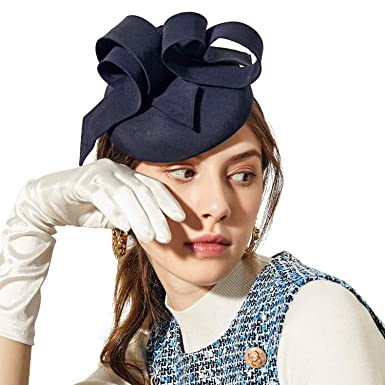 a1a0774f Deevoov Sinamay Flower Alice Headband Fascinator Wedding Headwear Ladies  Pillbox Cocktail Party Derby Race Royal Ascot Hat with Detachable Head Band  Blue: ...