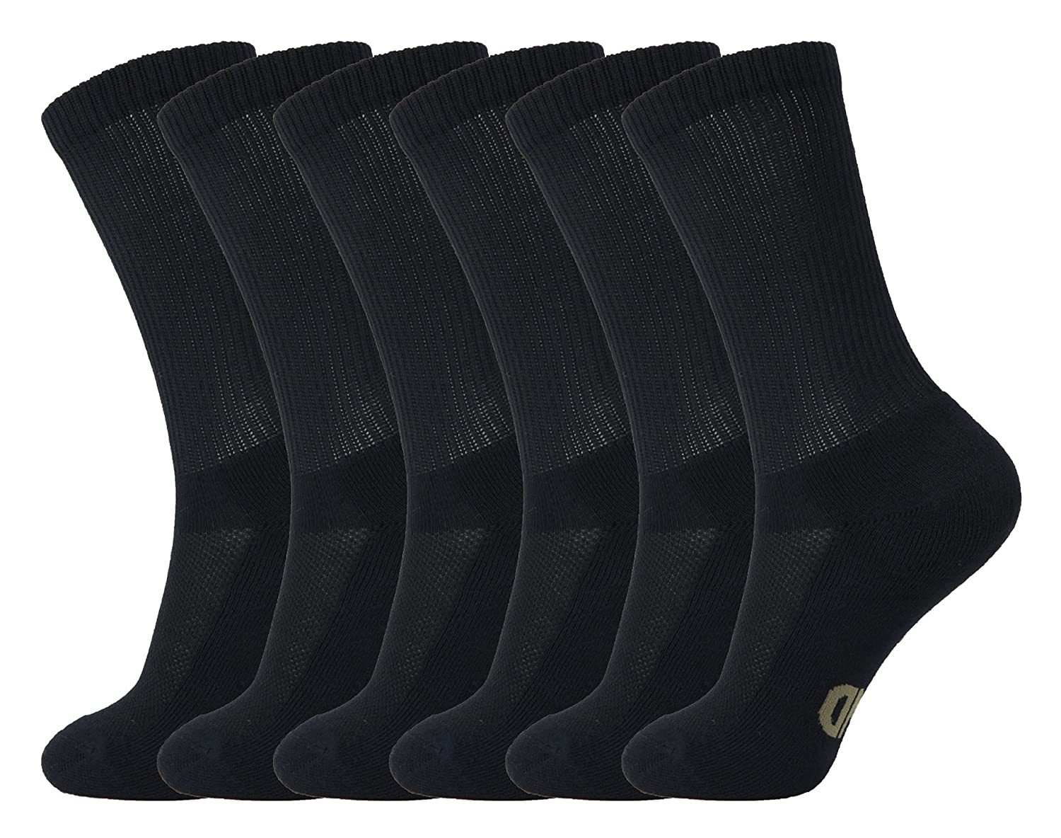 MD Men and Women Ultra Soft Bamboo Dress Socks Seamless Toe Crew 6 Pack +MD