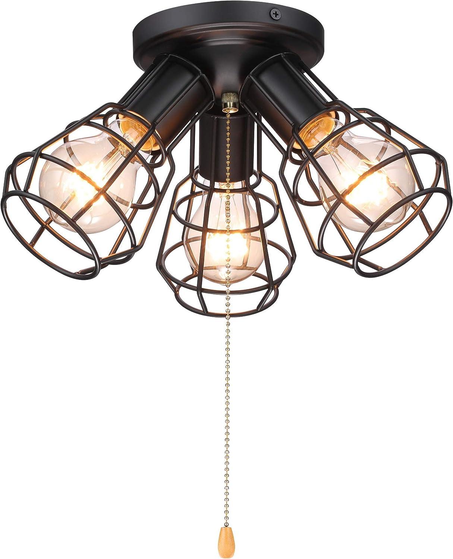 Vintage Ceiling Light Fixture    Flush Mount 1 light  Porcelain  pull chain