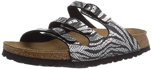 19bc4beb1e91 Papillio by Birkenstock Florida, Women's Sandals, Silver (Zebra Black  Silver), ...