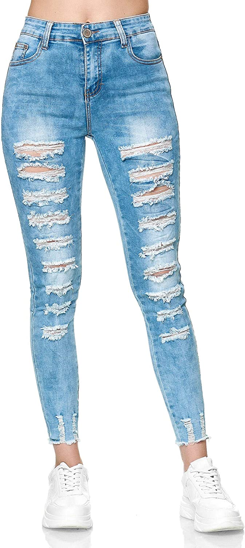 Elara Jeans Femme D/étruit et D/échir/é Chunkyrayan