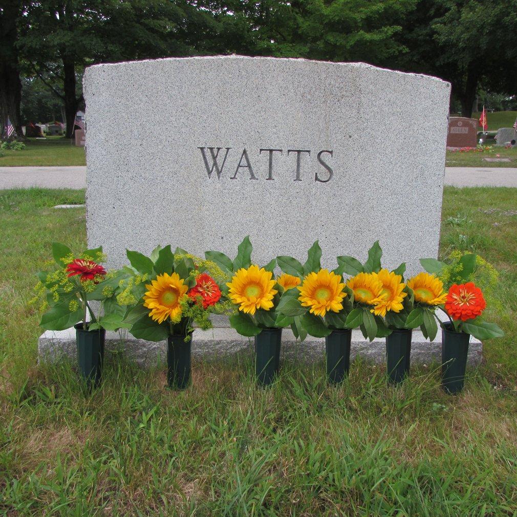 Evelots Set Of 6 Cemetery Grave Patriotic Memorial Veterans Flower Cone Vases 7''