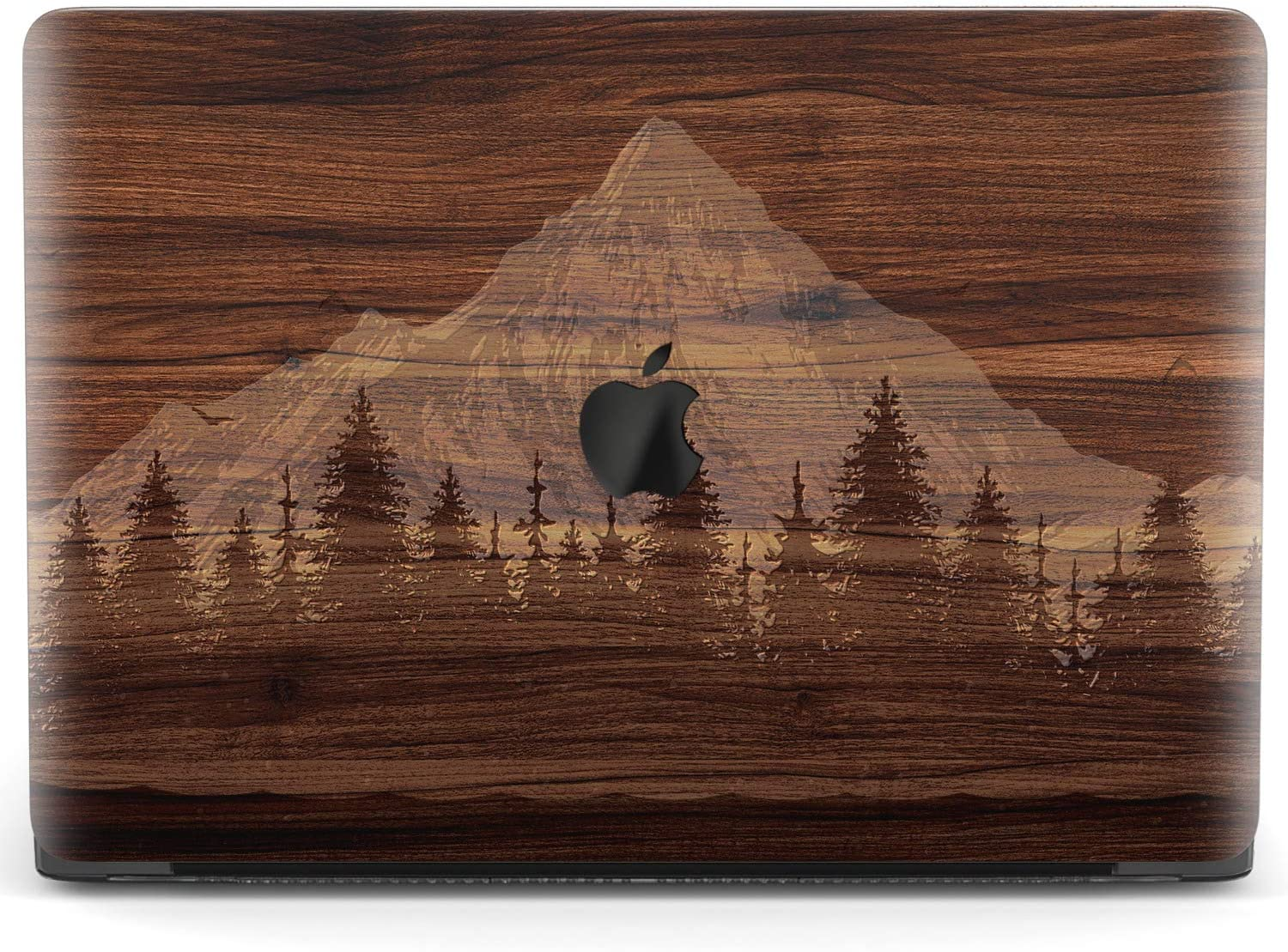 Mertak Hard Case for Apple MacBook Pro 16 Air 13 inch Mac 15 Retina 12 11 2020 2019 2018 2017 Mountain Grain Landscape Protective Laptop Texture Touch Bar Wood Girls Cover Design Women Forest