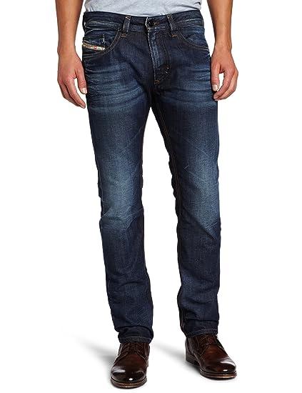 046f6df2 Diesel Men's Thavar Slim Skinny Leg Stone-Washed Jean 0806U, Denim, 28W x