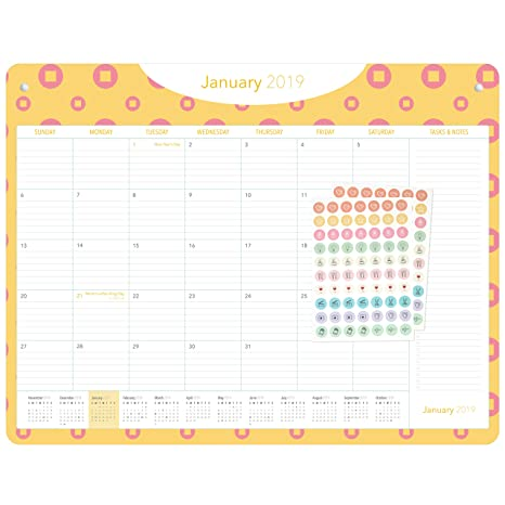 Amazon Com Desk Calendar 2019 2020 18 Months January 2019