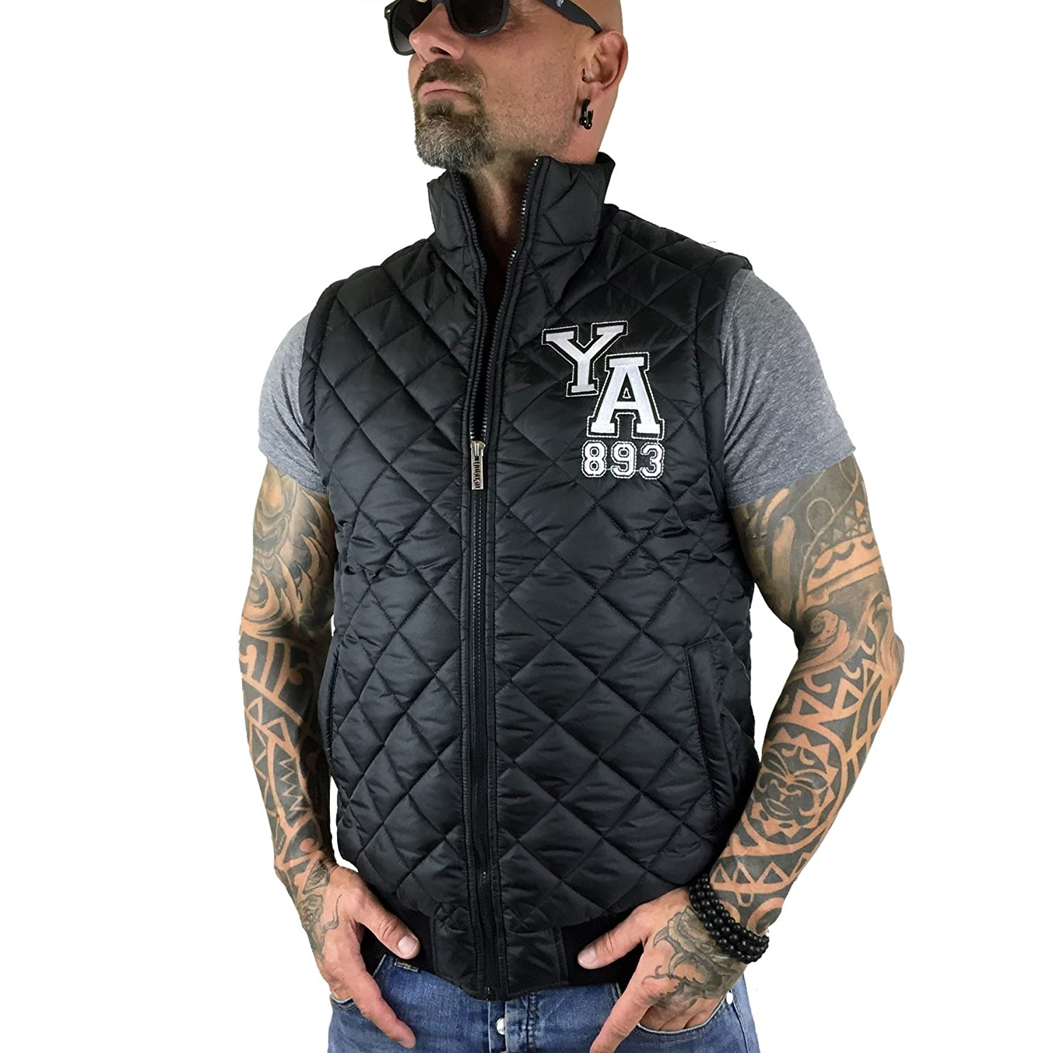 Yakuza Men Jackets / Vest Skeleton Quilted