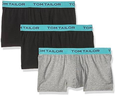 TOM TAILOR Men's Hip Pants 3er Pack Trunk, Black-Schwarz (Black-Melange
