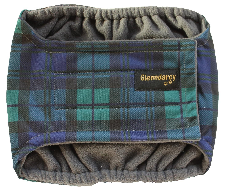Culotte noire pour chiens mâles incontinents - Couches lavables en option Glenndarcy Dog Pants