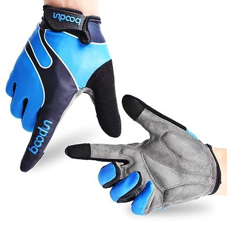 28f6a8c654 Molee Fahrradhandschuhe Radsporthandschuhe Rutschfeste und stoßdämpfende  Mountainbike Handschuhe mit Signalfarbe geeiget Unisex Herren Damen