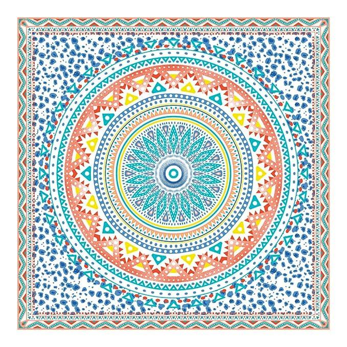 Orian Toalla Pareo Doble de Playa Microfibra de 150x150 cm. Mandala Extra Grande.: Amazon.es: Hogar