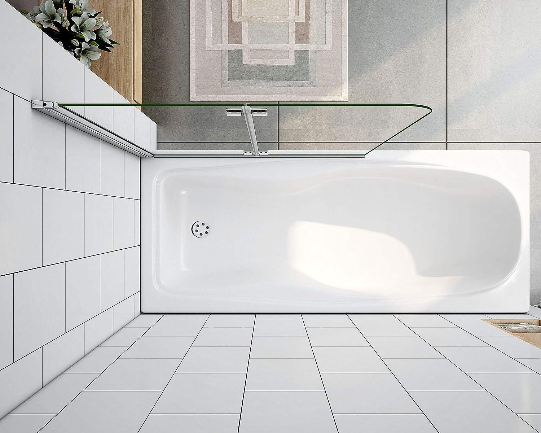 Mamparas de Bañera Plegable Biombo de Baño Abatible, 6 MM Cristal Templado Antical 90x140cm: Amazon.es: Bricolaje y herramientas