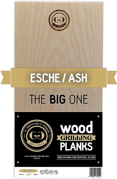"""Grillgold Tabla para ahumar Wood Grilling Plank """"The Big One Hecho de Madera de Fresno Local, tablones de Madera Barbacoa - XXL Grande con 400 * 200 * ..."""
