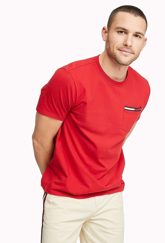 Tommy Hilfiger Men's Short Sleeve Crewneck T Shirt with Pocket |
