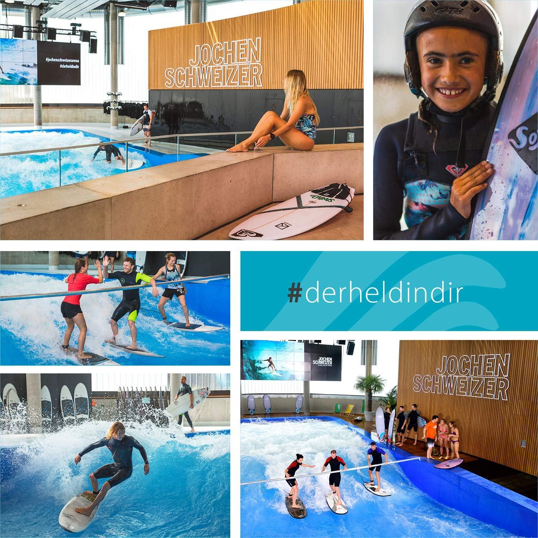 Jochen Schweizer Arena Indoor-Surfen I Surf Gutschein I Erlebnis-Box Surfen I Wellenreiten I Erlebnis-Gutschein Surfen I Surf Geschenk-Box I Erlebnis Geschenk Surfen