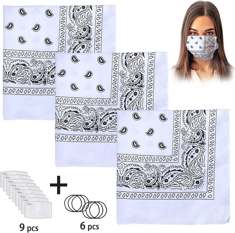 Vetoo Bandanas Originals et Diff/érentes Couleurs Accessoire V/êtement 5 Pack Mouchoir en 100/% Coton Bracelet /Écharpe