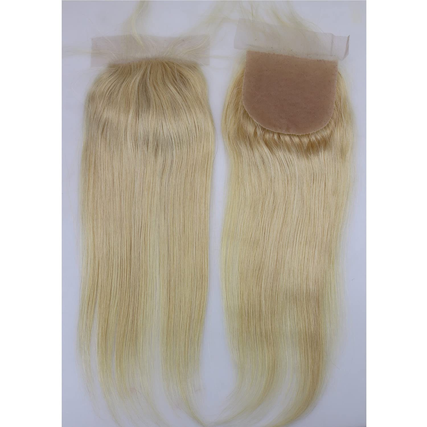 Silk Lace Closures With Baby Hair 613 Color Silk Straight Brazilian