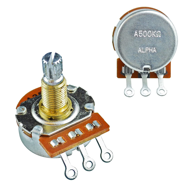 500k Split Shaft Alpha Pot Volume Tone for Electric Guitar - Linear