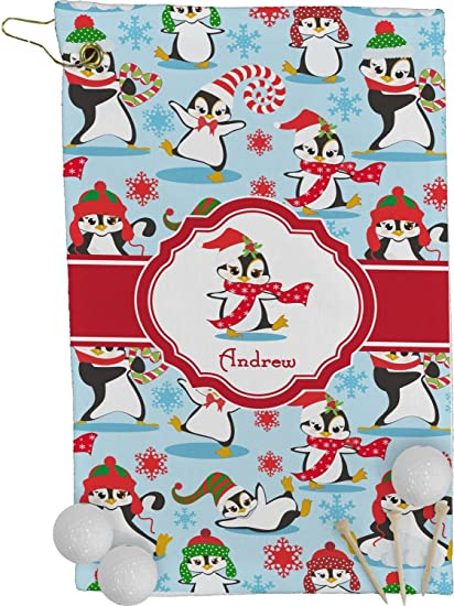 Navidad pingüinos toalla de Golf – Full Print (personalizado)
