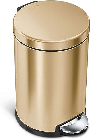Amazon.com: Simplehuman Bote de basura redondo de 4,5 litros ...