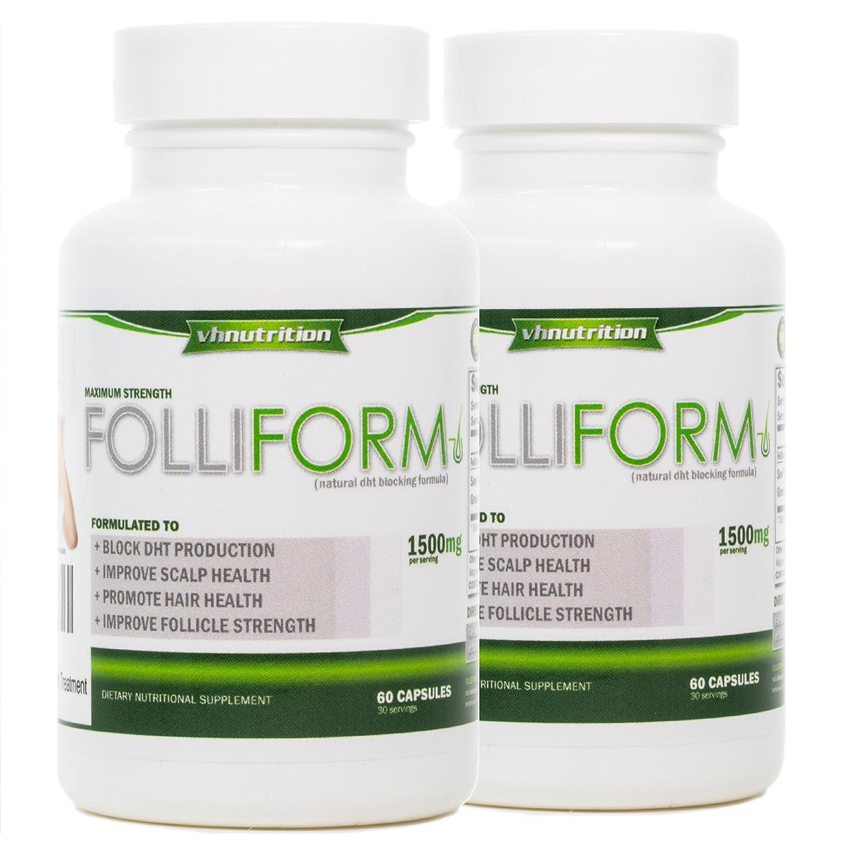Folliform DHT Blocker for Men and Women   Twin Pack   Natural Hair Regrowth  Treatment