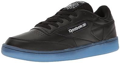 b2ec07e8326 Reebok Men s Club C 85 Fashion Sneaker Black White-Ice 8 ...