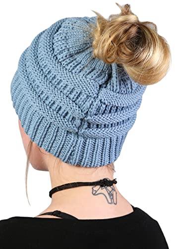 FunkyJunque Funky Junque's BeanieTail Womens Ponytail Messy Bun Beanie
