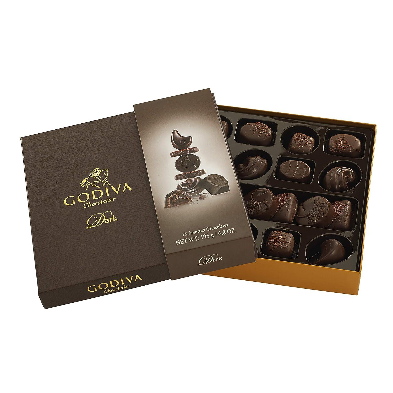 Godiva, Connoisseur bombones surtidos chocolate negro 18 piezas, 195g: Amazon.es: Alimentación y bebidas