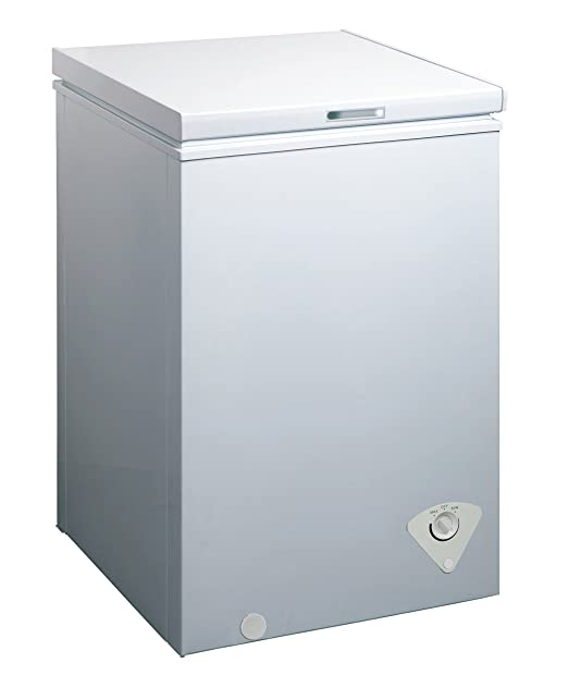 midea WHS-129C1 Single Door Chest Freezer, Top Chest Freezer