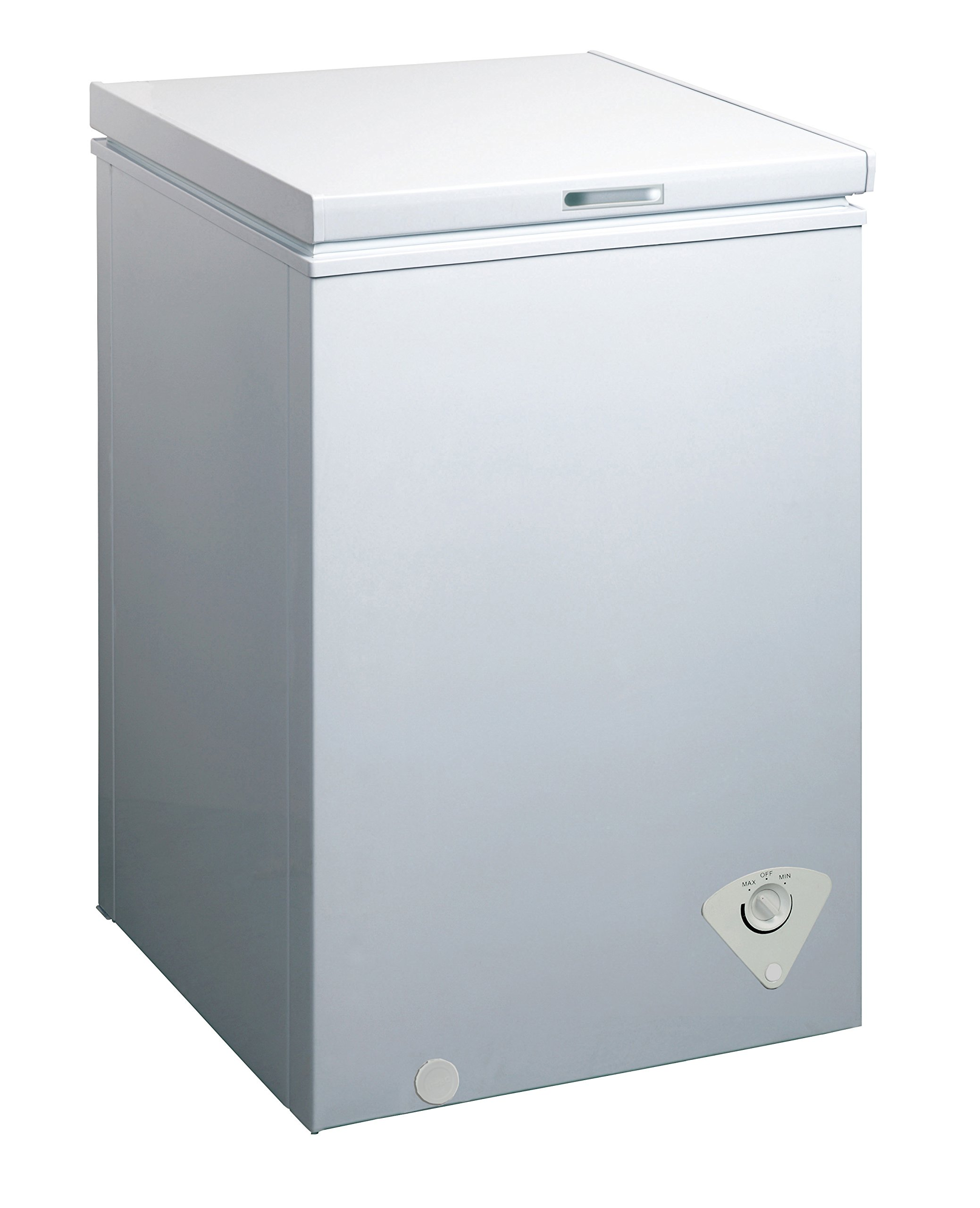 midea WHS-129C1 Single Door Chest Freezer, 3.5 Cubic Feet, White by MIDEA