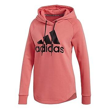 aa05db1af688a9 adidas Performance Must Haves Badge of Sport Kapuzenpullover Damen  pink/schwarz, XS