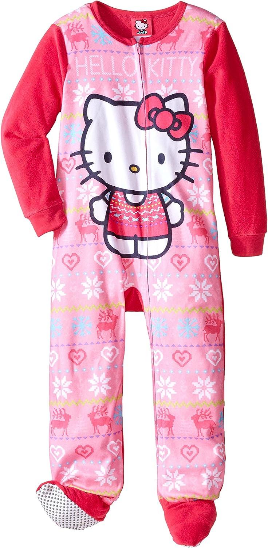 HELLO KITTY Size 7 8 GIRLS Footed Pajamas pjs BLANKET SLEEPER