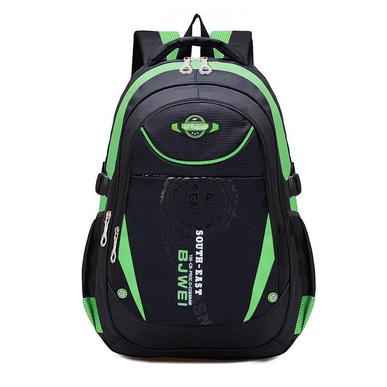 MAYZERO Kid's Outdoor Backpack School Bags Waterproof Travel Camping Bags (Green)