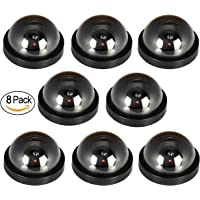 JOOAN Fake/Dummy Dome Security Camera Hemisphere Type Home/Store Surviellance Equipment with Twinkle Red Led (8pcs)