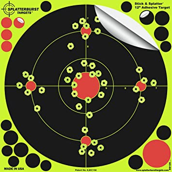 Fluorescent Shooting Target 12*12 inch Adhesive Practice