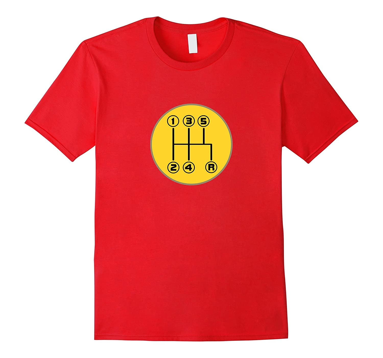 Driving Shift Pattern Fun Stick Shift Manual T-Shirt-TJ