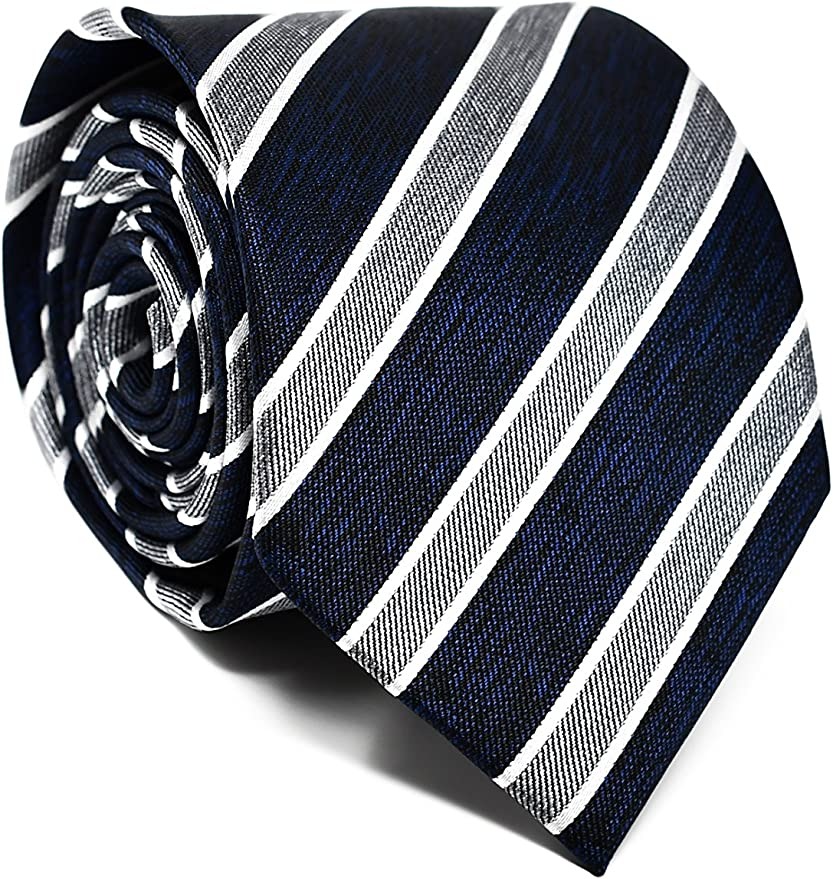 Oxford Collection Corbata de hombre Azul y Gris a Rayas - 100 ...