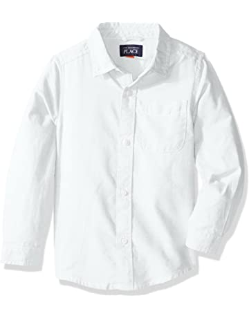 bdc2a44fb The Children's Place Baby Boys' Uniform Solid Long Sleeve Oxford Shirt
