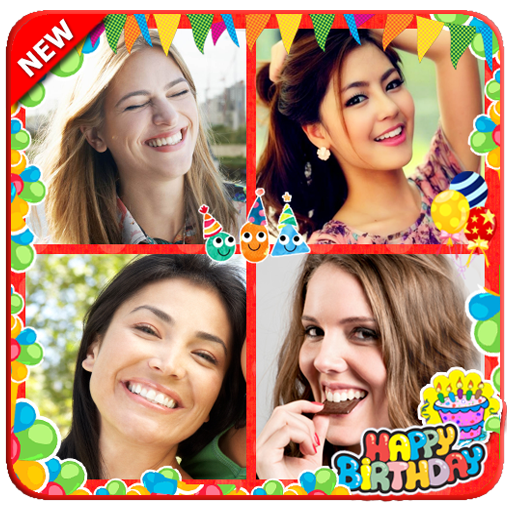 Happy Birthday Collage Maker Photo Editor (Birthday Wishes Cake Images With Name Editor)