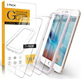 Arae Screen Protector for iPhone 6 / iPhone 6s / iPhone 7 / iPhone 8 , HD Tempered Glass Anti Scratch Work with Most Case, 4.