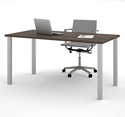 Remarkable Bestar 30 X 60 Table Desk With Square Metal Legs Home Remodeling Inspirations Cosmcuboardxyz