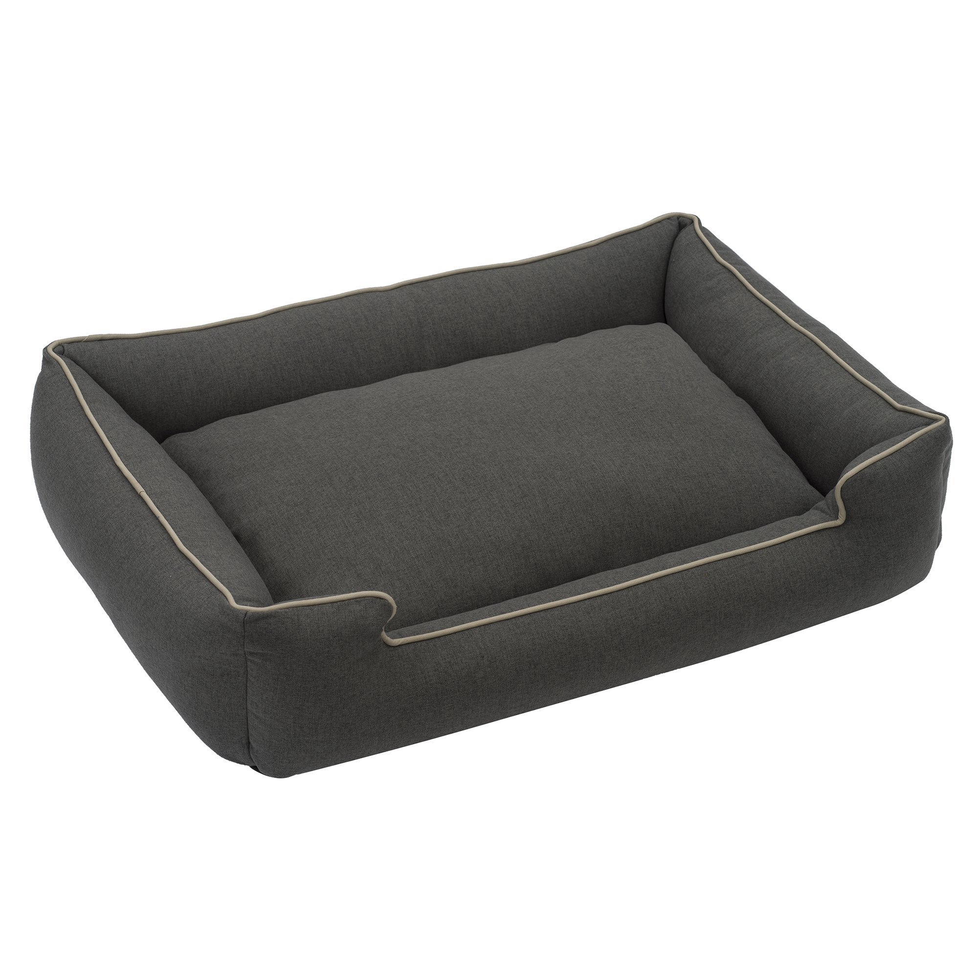 Jax and Bones Licorice Standard Wool Blend Lounge Dog Bed, Large