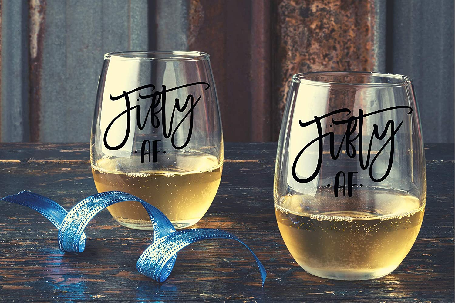 Silly Bday Gift For Women Nana Best Friend Sister Special Events Fifty AF Birthday Wine Glass For Decorations Anniversary 50th Birthday Gifts For Women Mom Grandma 50 AF Funny Wine Glass