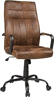 Bürostuhl antik  DuNord Design Bürostuhl Bürosessel OFFICE Microfaser antik coffee ...